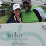 Natalie Cheng-Kai-On and Joe Carter at the 1st Annual Joe Carter & Friends Celebrity Golf Tournament